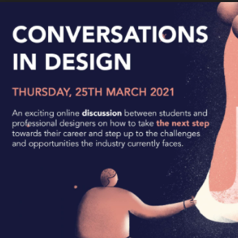 conversations in design. step up.